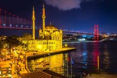 Moschea di Ortakoy, Costantinopoli, Turchia Fotografia Stock Libera da Diritti