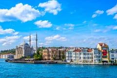 Moschea di Ortakoy, Costantinopoli, Turchia Fotografia Stock
