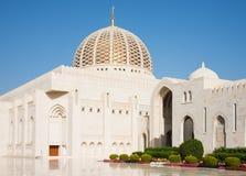 Moschea di Qaboos del sultano grande in moscato fotografia stock libera da diritti