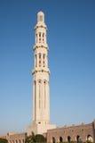 Moschea di Qaboos del sultano grande in moscato fotografie stock libere da diritti