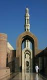 Entranc alla moschea di qaboos del sultano Fotografia Stock