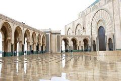 Moschea di re Hassan II dell'entrata, Casablanca immagini stock
