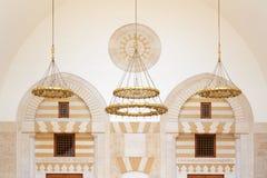 Moschea di re Hussein Bin Talal a Amman, Giordania Immagini Stock Libere da Diritti