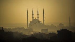 Moschea di Selimiye in nebbia Immagini Stock Libere da Diritti