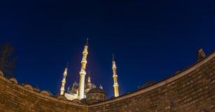 Moschea di Selimiye in nebbia fotografie stock libere da diritti