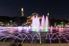 moschea di sophia di hagia con la fontana nella priorità alta Fotografie Stock Libere da Diritti