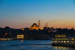 Moschea di Suleymanie - Costantinopoli, Turchia Fotografie Stock Libere da Diritti