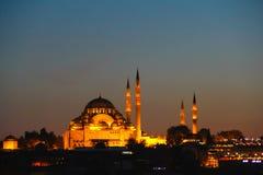 Moschea di Suleymanie - Costantinopoli, Turchia Fotografia Stock