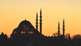Moschea di Suleymaniye, Costantinopoli fotografia stock