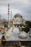 Moschea di Suleymaniye a Costantinopoli Fotografia Stock
