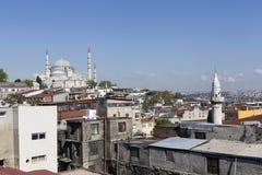 Moschea di Suleymaniye Costantinopoli La Turchia fotografia stock libera da diritti