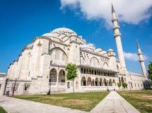 Moschea di Suleymaniye a Costantinopoli, Turchia Fotografia Stock Libera da Diritti