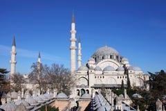 Moschea di Suleymaniye (Suleymaniye Cami) Fotografie Stock Libere da Diritti