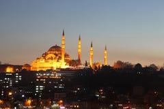 Moschea di Suleymaniye (Suleymaniye Cami) Fotografia Stock Libera da Diritti