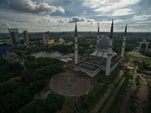 Moschea di Sultan Salahuddin Abdul Aziz Shah, Shah Alam, Selangor, Malesia Fotografia Stock