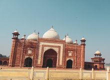Moschea di Taj Mahal a Agra, India immagine stock libera da diritti