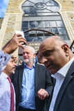 Moschea di visita di Jeremy Corbyn Immagine Stock Libera da Diritti