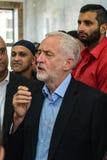 Moschea di visita di Jeremy Corbyn Fotografie Stock