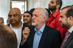 Moschea di visita di Jeremy Corbyn Immagine Stock