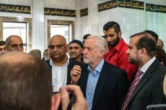 Moschea di visita di Jeremy Corbyn Immagini Stock Libere da Diritti