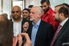 Moschea di visita di Jeremy Corbyn Fotografie Stock Libere da Diritti
