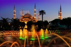 Moschea e fontana Fotografia Stock Libera da Diritti