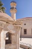 Moschea e fontana turche di Lerapetra fotografie stock libere da diritti