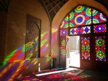 Moschea e luce nell'Iran fotografie stock libere da diritti