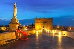 Moschea e ponte romano a Cordova, Spagna Fotografia Stock Libera da Diritti