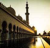 Moschea, Emirati Arabi Uniti fotografia stock