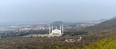 Moschea Islamabad di Faisal di vista aerea immagine stock libera da diritti