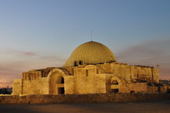 Moschea islamica dopo il tramonto Fotografie Stock Libere da Diritti