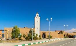 Moschea in Merzouga, un villaggio nel deserto del Sahara morocco Fotografia Stock
