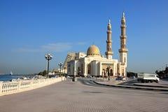 Moschea musulmana in Sharjah. Fotografia Stock Libera da Diritti
