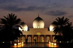 Moschea nell'Abu Dhabi Fotografia Stock