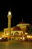 Moschea nella notte Fotografia Stock