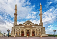Moschea a Sharjah Fotografia Stock Libera da Diritti