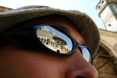 Moschea sugli occhiali da sole fotografia stock libera da diritti
