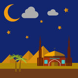 Moschea sulle dune di sabbia Fotografie Stock Libere da Diritti