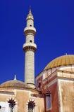 Moschea turca con il minareto Fotografie Stock