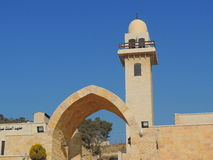 Moschea vicino alla caverna delle sette traversine, Giordania Fotografie Stock Libere da Diritti
