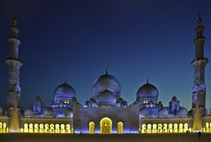 Moschea zayed sceicco UAE Fotografie Stock Libere da Diritti