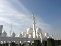 Moschee in Abu Dhabi Stockfotos