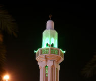 Moschee in Abu Dhabi nachts, Arabische Emirate Stockfotos