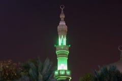 Moschee in Abu Dhabi nachts, Vereinigte Arabische Emirate Lizenzfreies Stockbild