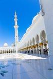 Moschee - Abu Dhabi - Shaiekh Zayed Lizenzfreie Stockfotos