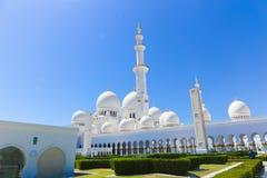 Moschee - Abu Dhabi - Shaiekh Zayed Lizenzfreie Stockfotografie