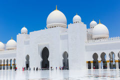 Moschee - Abu Dhabi - Shaiekh Zayed Stockfotografie