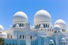 Moschee Abu von Abu Dhabi Lizenzfreies Stockbild