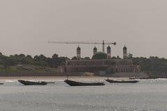 Moschee auf dem Strand Stockfotografie